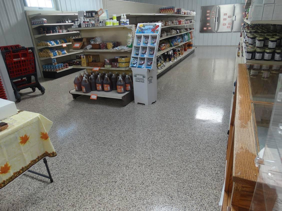coated retail flooring
