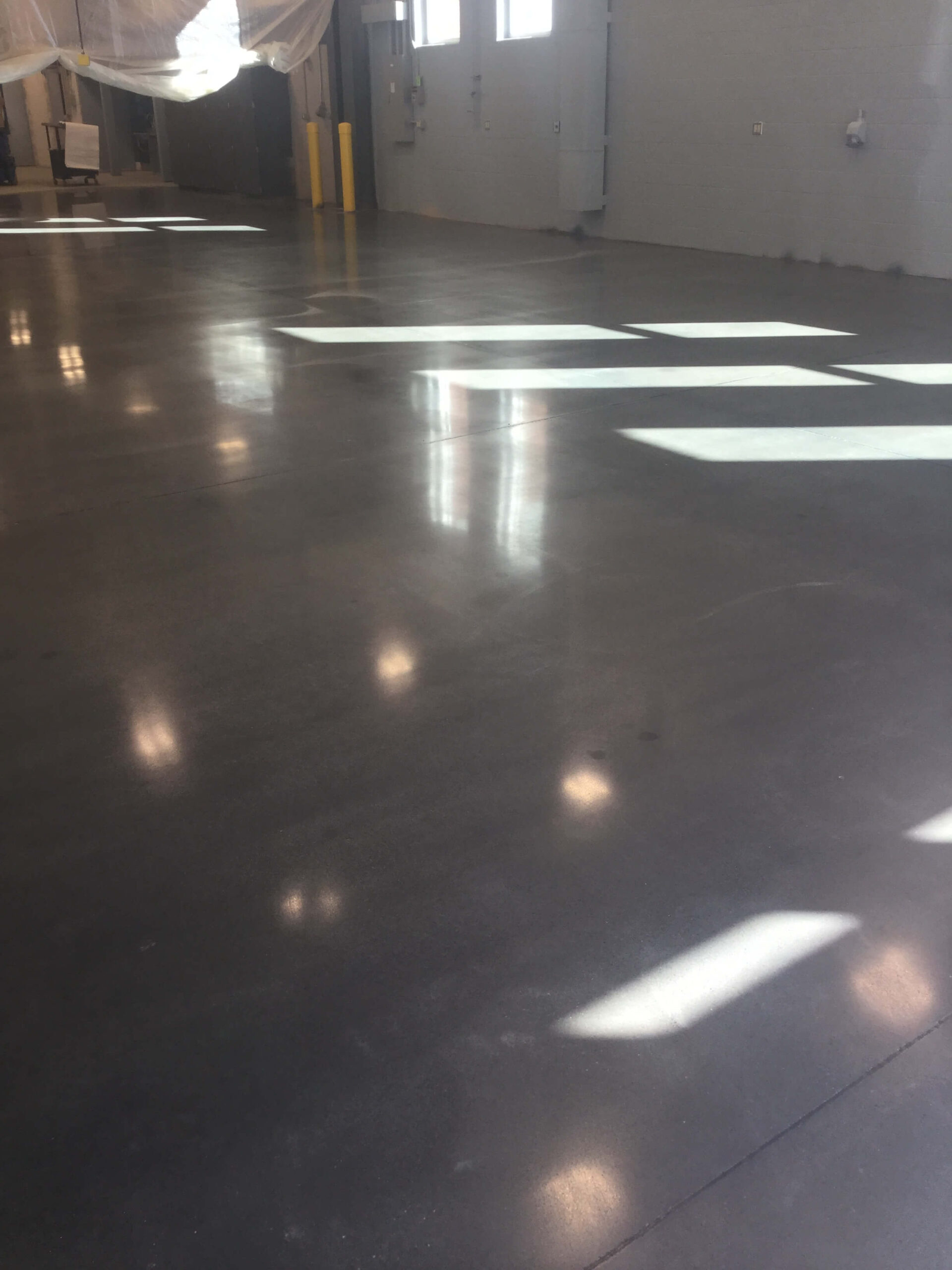 white coated flooring